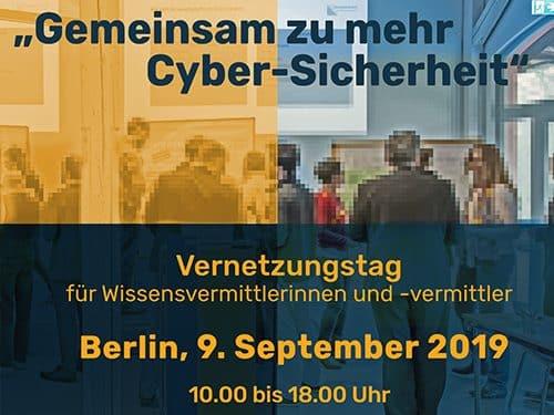 """Flyer Vernetzungstag """"Gemeinsam zu mehr Cybersicherheit"""""""