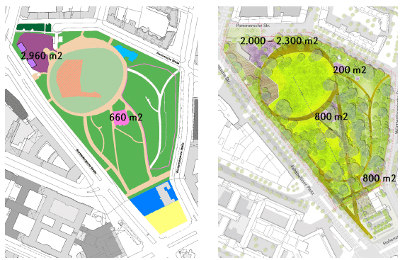 Planskizze Preußenpark