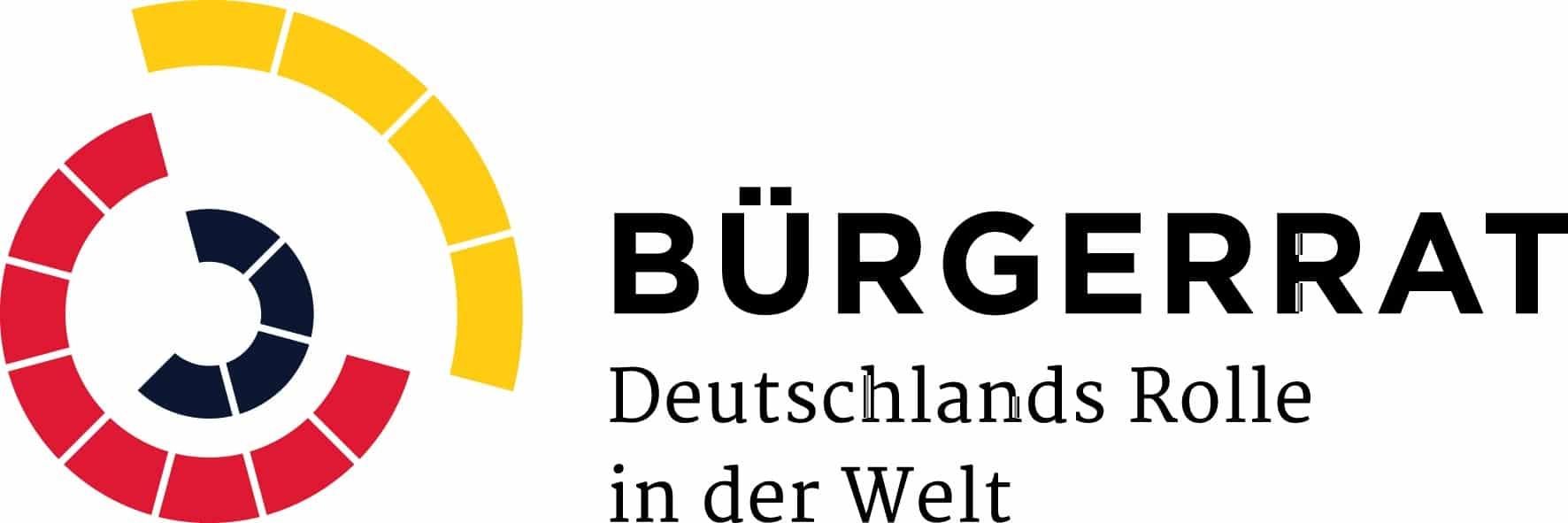 Logo Bürgerrat Deutschlands Rolle in der Welt